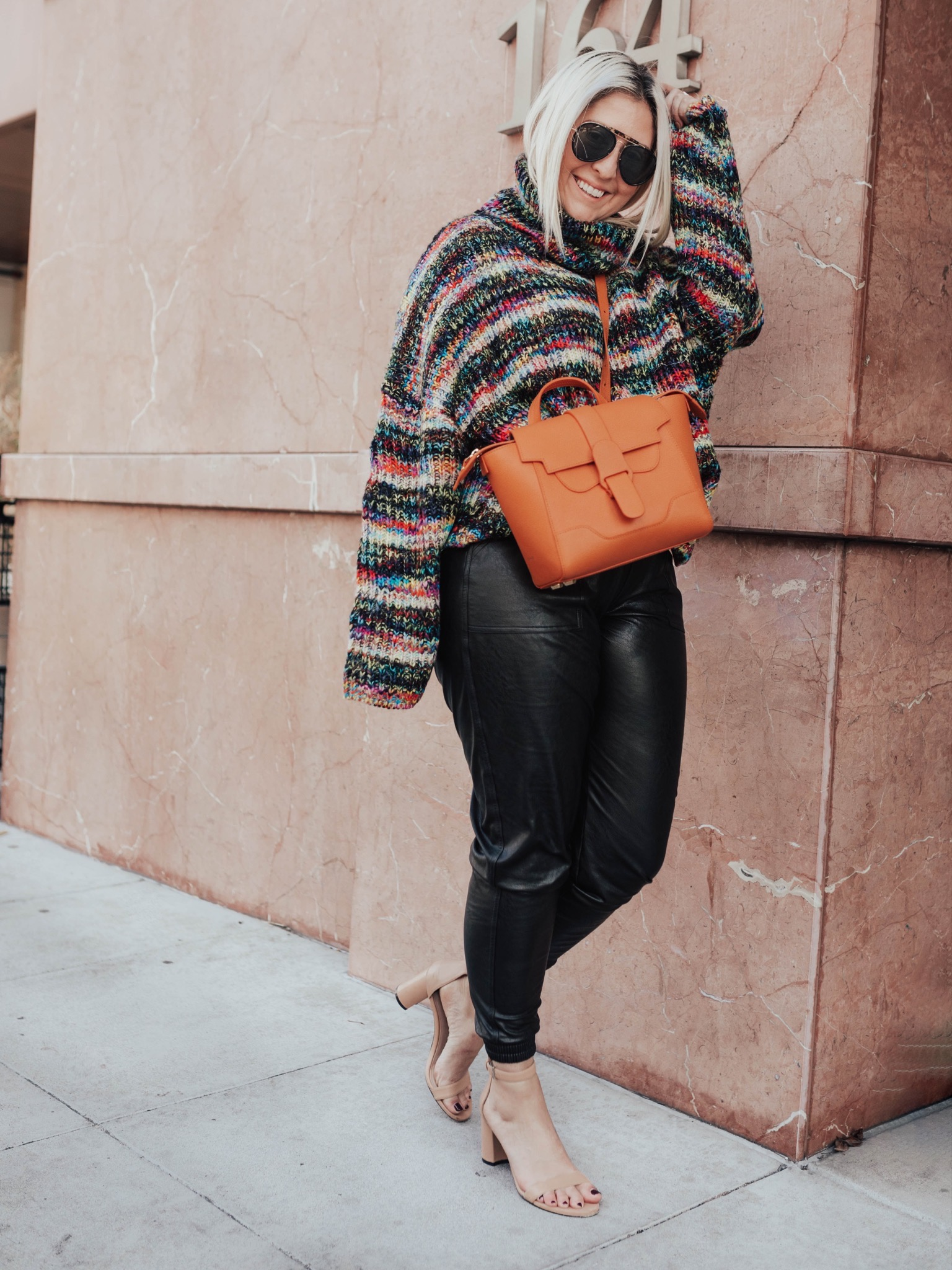 Best Pull On Pants,KatWalkSF wearing the Spanx Leather-Like Jogger pants.